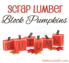 Scrap lumber block pumpkins.. super easy tutorial