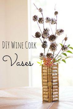 Wine cork vases - th