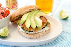 Cilantro-Lime Salmon Burgers by Pink Parsley Blog, via Flickr