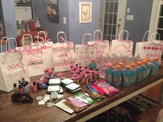 maybe?  Ideas for Bachelorette Party:  Loving these ideas! Bachelorette Party Goodie Bags...