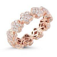 Karly Beth Diamond Ring in 14k Rose Gold