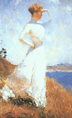 1909, green gables, indianapoli museum, weston benson, paint, artist, sunlight, frank weston, frank benson