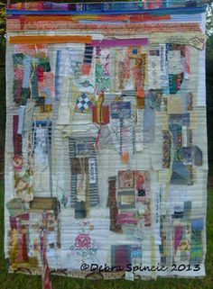 Debra Spincic: Reclaimed Fabric Compositions sew, textil collag