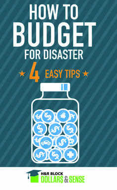 4 Easy Ways To Budget For Disaster #personalfinance #money