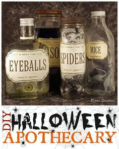 DIY Halloween Apothecary Jars from fynesdesigns.com #MSHalloween