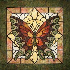 glass butterfli, pattern, glasses, butterfly quilts, quilting butterflies, stained glass quilts, butterfli quilt, appliqu, stain glass