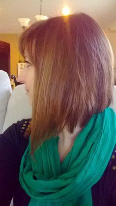 New haircut! Asymetrical long bob.