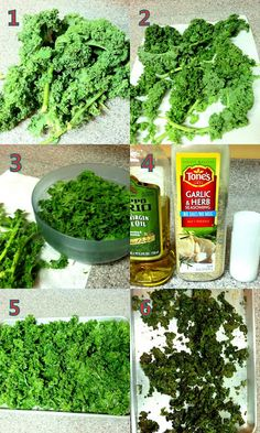 Kale Chips - never eaten kale before...this may be a good way to try it