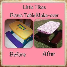 Creative Creations: Little Tikes Picnic Table Make-over