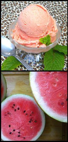 ... to VEGGIES: Easy Watermelon Ice-cream (with no Ice-cream Maker