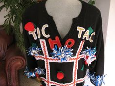 Holidaily: DIY Ugly Holiday Sweaters Tic Tac HO!