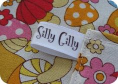 Make your own labels with your printer, iron-on transfer paper and ribbon…tutorial