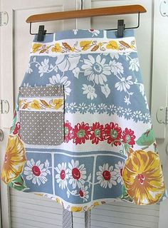 Vintage Tablecloth Apron