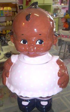 Cute Kewpie doll cookie jar www.jazzejunque.com
