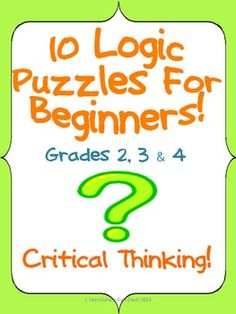 critical thinking riddles for middle school