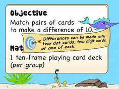 Ten Frame Arithmetic:  Subtraction Game