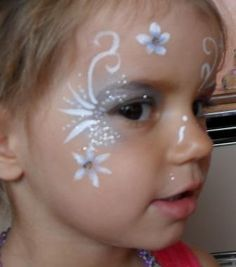 Pretty Swirls & Flowers Face Painting