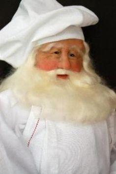 Santa Claus, handmade, sculpted Santa dolls by Lynn Burr