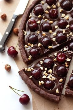 Chocolate cherry pizza. This looks amazing.