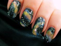 Easy Galaxy Nail Art