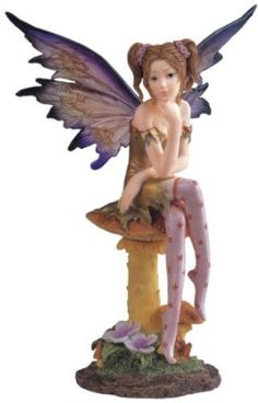 Fairy Collection Pixie With Clear Wings Fantasy Figurine