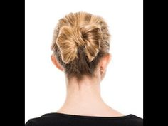 """Super cute """"Bow Bun"""" tutorial using the Pony-O for buns. Available for purchase from Covet Dance: http://www.covetdance.com/shop/pony-o-for-buns-best-ballet-bun-tool-ever/"""