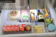 Day #11: Organize Fridge drawers - have a purpose for each drawer and stick to it as much as possible | OrganizingMadeFun.com