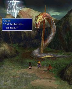 Final Fantasy VII - This was a cool moment.