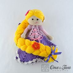 Ravelry: Rapunzel Lovey Security Blanket pattern by Carolina Guzman.