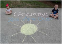 ador mother, mothers day, sidewalk chalk, chalk messag