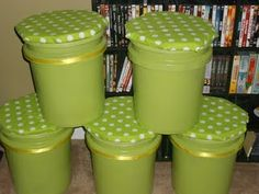 5 gallon bucket seating...do this instead of chairs for small group table, because 6 chairs don't all fit correctly. Better height than milk crate seats, but don't lose the storage.