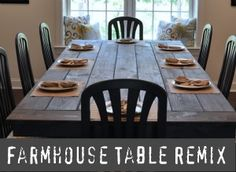 Farmhouse Table made from two old tables.  Talk about a DIY upcycle! dining rooms, east coast, farmhous tabl, farmhouse table, dining room tables, farm table, farm house tables, farm houses, dining tables