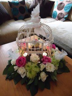 cage beauti, birdcag centerpiec