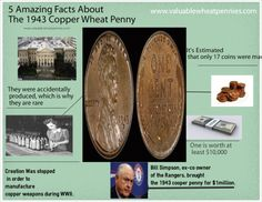 3 great facts on the 1943 wheat penny wheat pennies for small inve - Incredible uses for copper pennies ...
