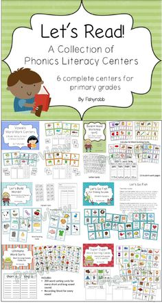 100 pages of phonics and word work centers for primary grades!