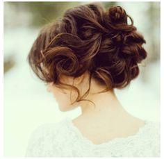Bride hair--pretty for Meaghan
