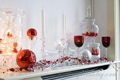 silver christmas, christma inspir, white silver, christma decor, merri christma, blog, mantl, mantel decorations, christmas mantels
