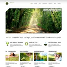 Go Green is a premium wordpress portfolio themes