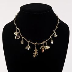 Michael Michaud Leaf Charm Necklace