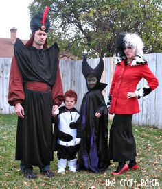 Halloween Costumes. Disney Villains. My sister-in-law is amazing. Best costumes ever.