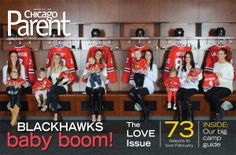 The Better Halves are on the cover of Chicago Parent magazine! Check out those baby Blackhawks, too.