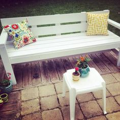 Loving my new patio thanks to this bench!   Do It Yourself Home Projects from Ana White