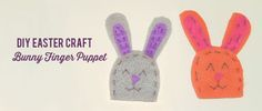 DIY Easter Craft Idea: Bunny Finger Puppet. Click the image to get the 4 simple & fun steps! easter crafts, craft ideas, bunni finger, finger puppets