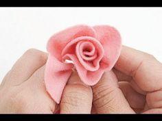 Rosa em feltro passo a passo pode usar em várias aplicações - YouTube