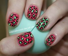 Repinned: Summer leopard print nails