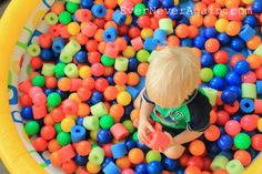 Pool Noodle Pool, fun and cheap alternative to plastic balls