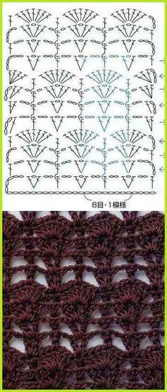 Pretty crochet stitch!