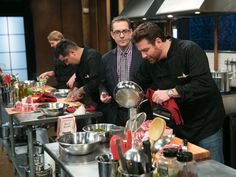 Chopped judges take over the kitchen to compete using the same basket ingredients that have sent chef competitors home. Find out who will win bragging rights.