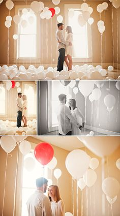 engagement photos, balloons photoshoot, new homes, helium balloons, first house, couple photography, photoshoot idea, engagement shoots, photo shoots