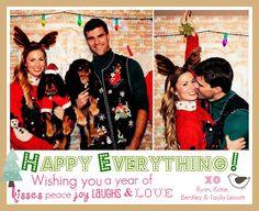 newlyweds christmas card idea